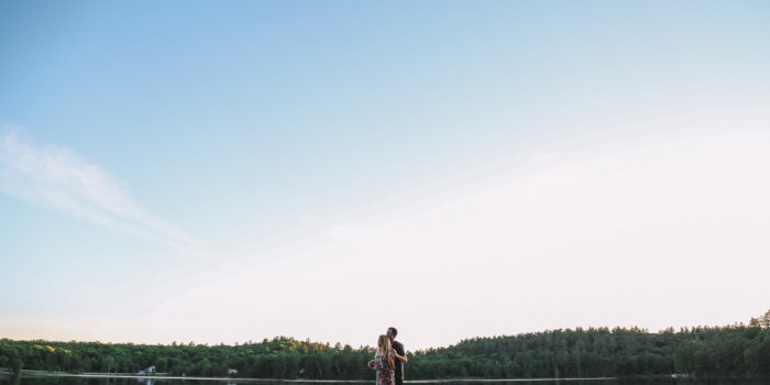 Haliburton Lake Couple