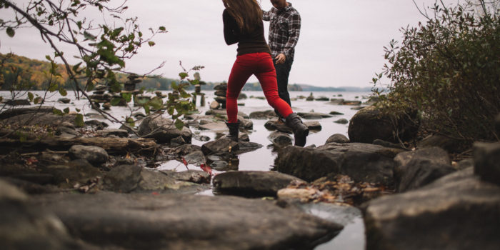 Haliburton Lake Engagement