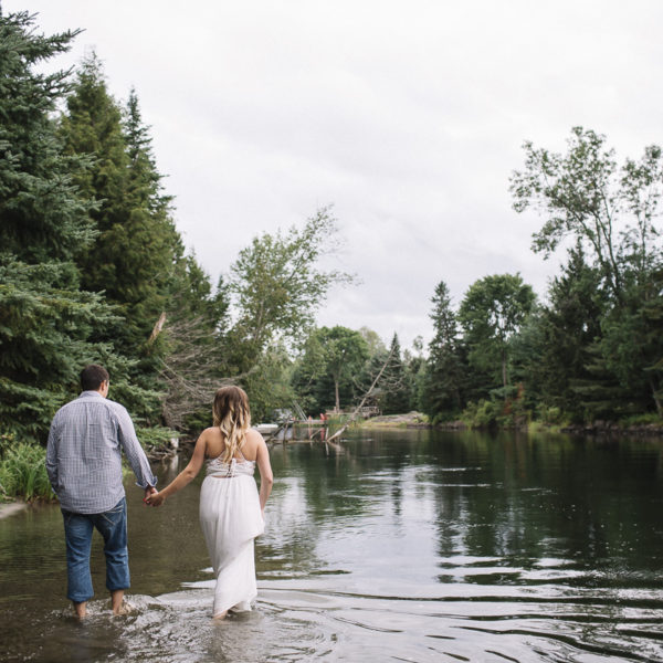 Intimate River Engagement