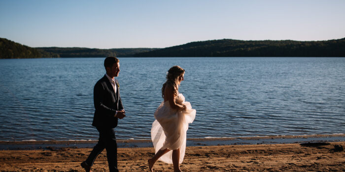 Haliburton Camp Wedding by the Lake